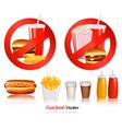 ast food danger labels vector image