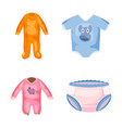 baby clothes icon set cartoon style vector image