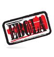 Ebola grunge rubber stamp vector image