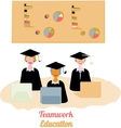 Education teamwork infographics template vector image