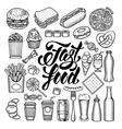 Fast food set vector image