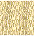 gold glitter abstract isometric seamless pattern vector image