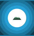 isolated mountain flat icon peak element vector image