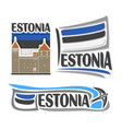 logo for estonia vector image