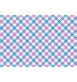 pink blue check diagonal fabric texture vector image