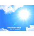 Sun and sky realistic background vector image