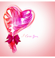 Valentine card with abstract heart vector image