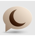 Moon sign  Brown gradient icon on vector image