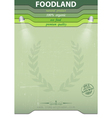 Eco food background vector image vector image