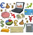 financial set vector image vector image