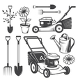 Set of vintage garden designed elements vector image