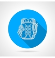 Backpack flat line icon vector image