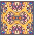 Traditional yellow ornamental floral paisley vector image vector image