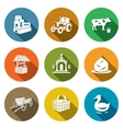 Village life Icons Set vector image