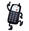 cartoon mobile phone vector image