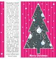 decorative new year tree vector image