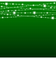 Garland Star Bulbs Stars New Year Christmas vector image