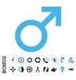 Male Symbol Flat Icon With Bonus vector image