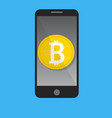 mobile phone bitcoin payment concept vector image