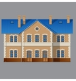 Residential private house vector image