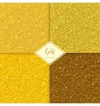 Set of glitter gold texture vector image