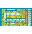 Minnesota state cities list vector image