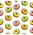 hand drawn donut seamless pattern pastry vector image vector image
