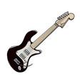 cartoon image of guitar vector image vector image