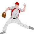 baseball pitcher detailed vector image