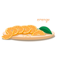 Served Oranges On Plate vector image vector image