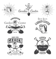 Set of vintage garden center emblems vector image