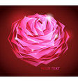geometric rose vector image