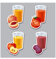 juice stickers vector image vector image