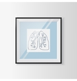 Anatomical lungs sketch in a frame vector image vector image