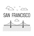 Monochrome San Francisco Golden Gate Bridge San vector image