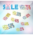 big set of sale banner elemnts vector image