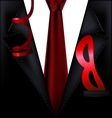 black festive suit with mask vector image