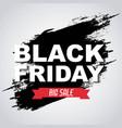 black friday big sale banner invitation promotion vector image