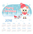 calendar 2018 year with sheep vector image