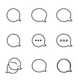 Contour Talk bubble comment and message logo icons vector image