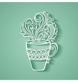 Decorative Cup of Tea vector image
