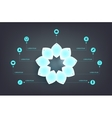 Infographics step by with neon shiny petals vector image