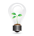 light bulb plant vector image