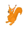 Red squirrel icon cartoon style vector image