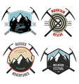 Set of vintage mountain explorer labels and badges vector image
