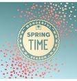 Spring time wonderful season vector image