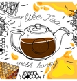 Tea and Honey vector image