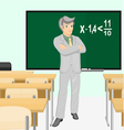Teacher of mathematics vector image
