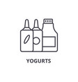 yogurts line icon outline sign linear symbol vector image