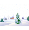 White winter vector image vector image